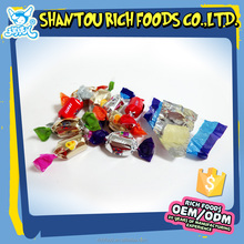 wholesale multi-color fruit filled clearly hard candy