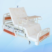Maidesite patients used home care hospital bed with commode