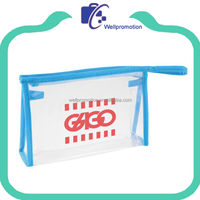 Wellpromotion wholesale promotional mini clear cosmetic bag