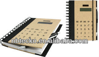 Hot sell notebook with calculator cover