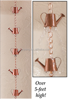 Garden Decorative Copper Watering Can Rain Chain