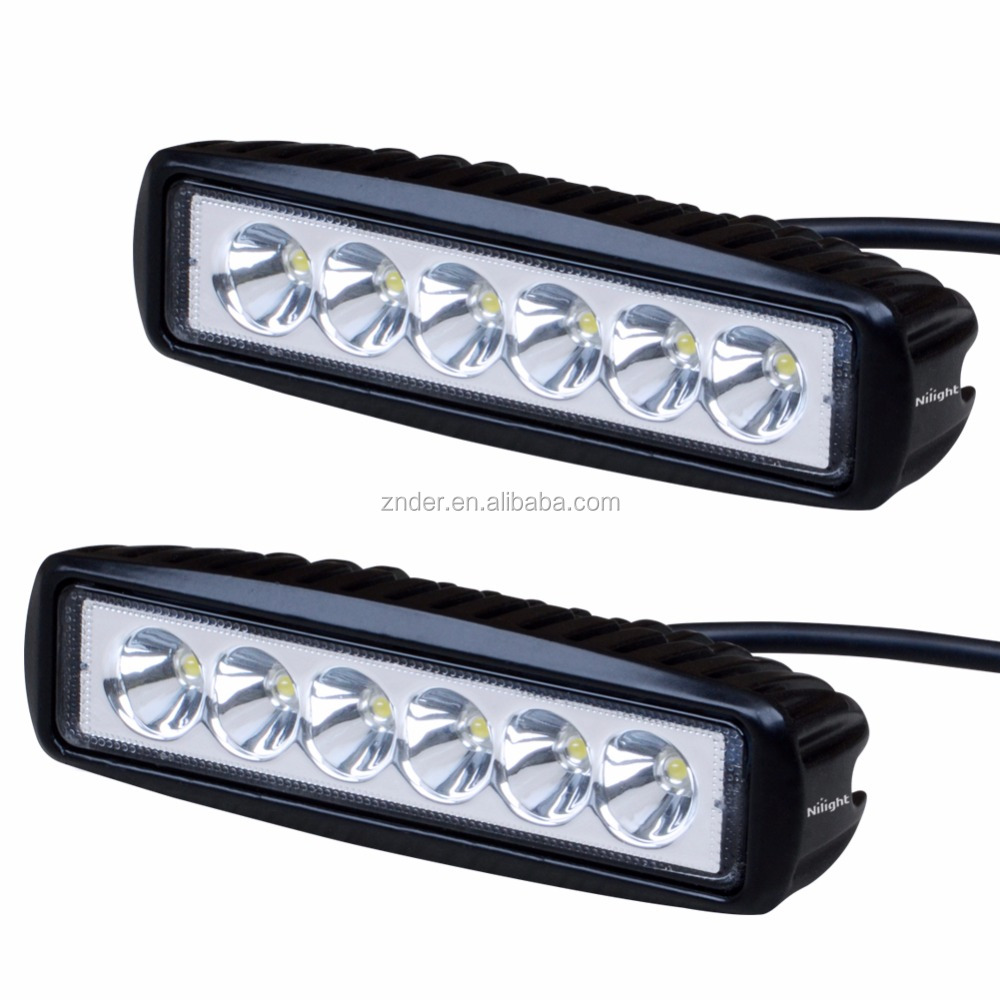12VDC to 6VDC Reducer Police LED Roof Light Bar, 18W 3W* 6PCS 1530 LUMENS For Motorcycle