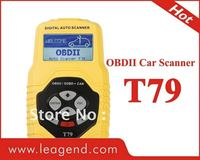 Strong-function Newest product ! OBDII/EOBD universal car code reader T79-6 languages,view DTC history record