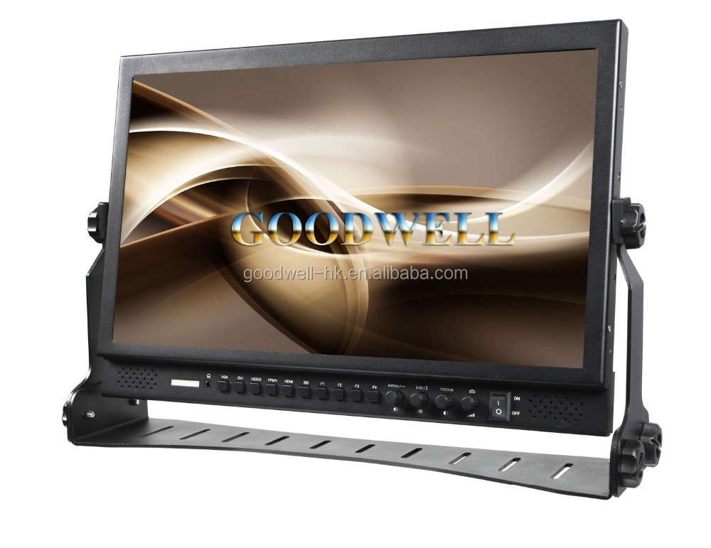 "New Broadcast Full HD 16:9 Widescreen 17.3"" LCD HD-SDI Monitor 1920x1080 with Peaking Focus Assist"