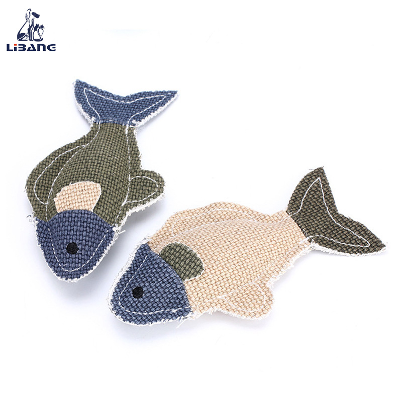 Hote Sale Pet Puppy Chew Products Fish Shaped Dog Squeak Toy