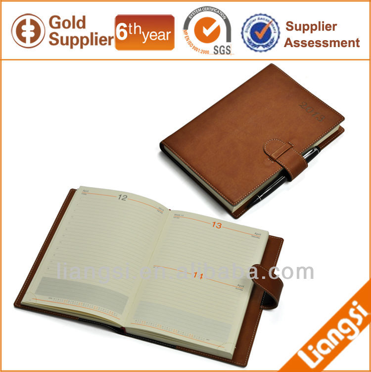Agenda Notebook with Leather Cover
