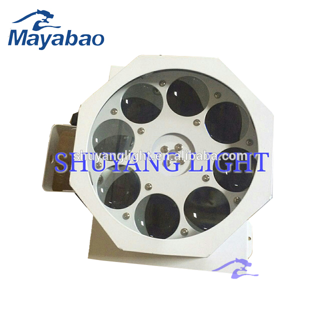 Rotating Stage effect light 8 eyes 3w led gobo stage light for sale