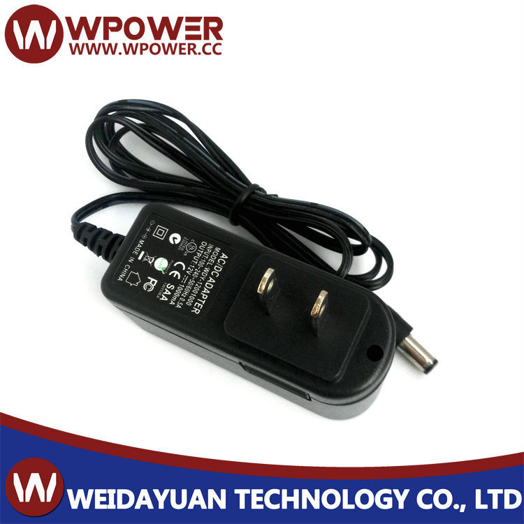 12V 1A 12W Plug In AC To DC Switching Mode Power Supply Adapter