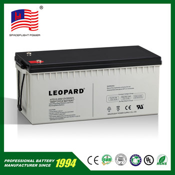 12V 200AH deep cycle battery rechargeable battery for golf cars