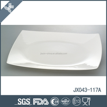 Super quality wholesale china custom square ceramic white dinner plate