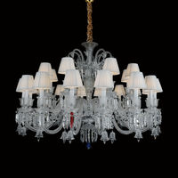 Hotel Lobby Crystal Lamp clarissa glass drop chandelier