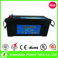 Qualified good stability car starting battery 12V 135Ah high current output MF battery