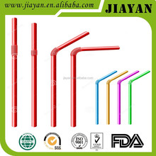 colorful fashion pp flexible artistic straw