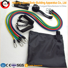 Latex Resistance Band Set With clips, handles, door anchor, ankle straps, carrying case