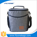 Freezable Lunch Bag with Zip Closure In Grey Color