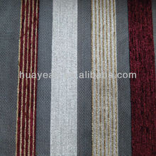 chenille strip design organza sheer fabric for curtain