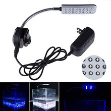 LED Clip Aquarium Lights Kit,24 LEDS,Light color White and Blue