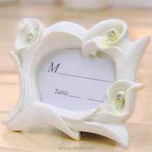 2017 new Bridal Wedding Favor Thank You Gift Calla Lily Photo Frame table number Place Card Holder