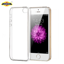 For iPhone 5 Crystal Clear TPU Gel Case for iPhone 5SE Phone Cover