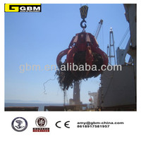 1cbm Motor Hydraulic Orange Peel Vessel Grab