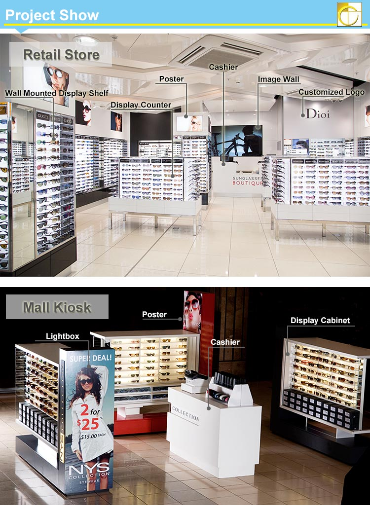 Affordable Mdf Wood Sunglass Display Stand Retail Store Furniture For Optical Shop Decoration