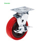 Industrial Cart Trolley Wheels Swivel Plate Heavy Duty PP Core PU Casters