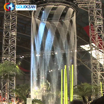 Digital Water Curtain Glass Indoor Waterfall Fountain