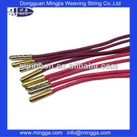 Colorful cheap environmental elastic cord with metal end