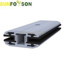 Aluminium thin film solar panel clamps for solar mounting system