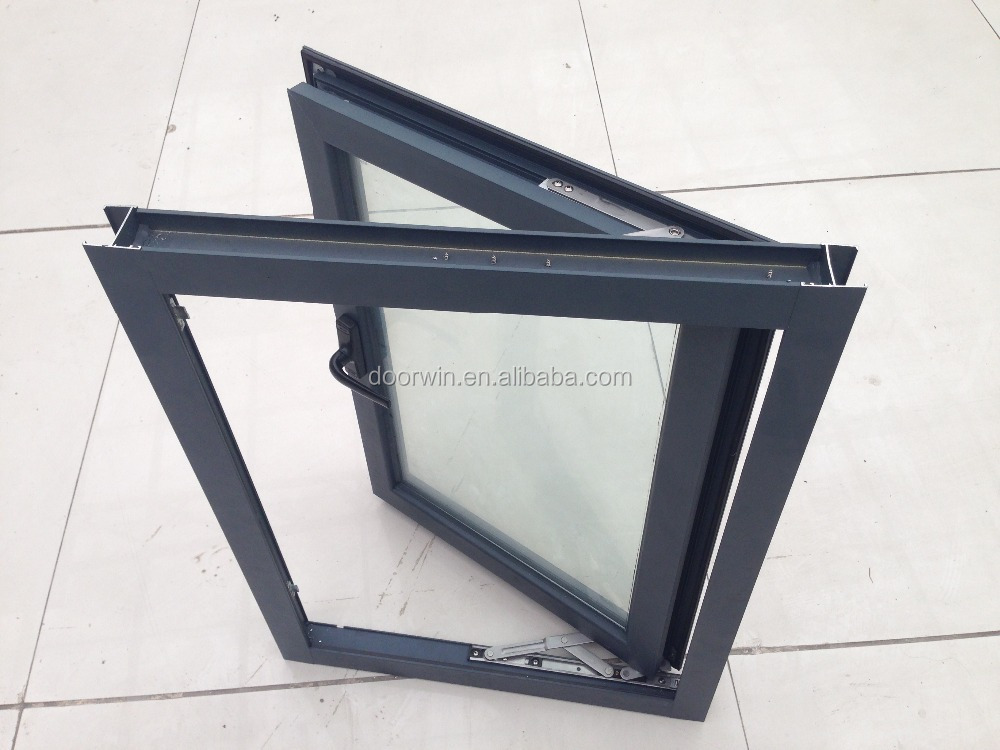 Aluminum Window Construction : Aluminium casement inward opening open inside