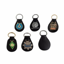 Leather Material and Coin Holder Keychain Type leather key chain
