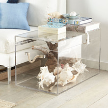 Clear acrylic home large storage box trunk console table