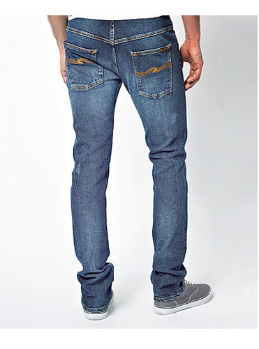 Chams Boys Straight Fit Mercerized Baked Denim Jeans