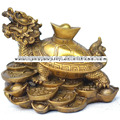 Dragon Turtle, Fengshui dragon turtle , Dragon Turtle hold the Chinese Ingots