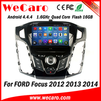 Wecaro WC-FF7305 Android 4.4.4 car dvd 2 din car entertainment system with gps for ford focus 2012 2013 2014 OBD2