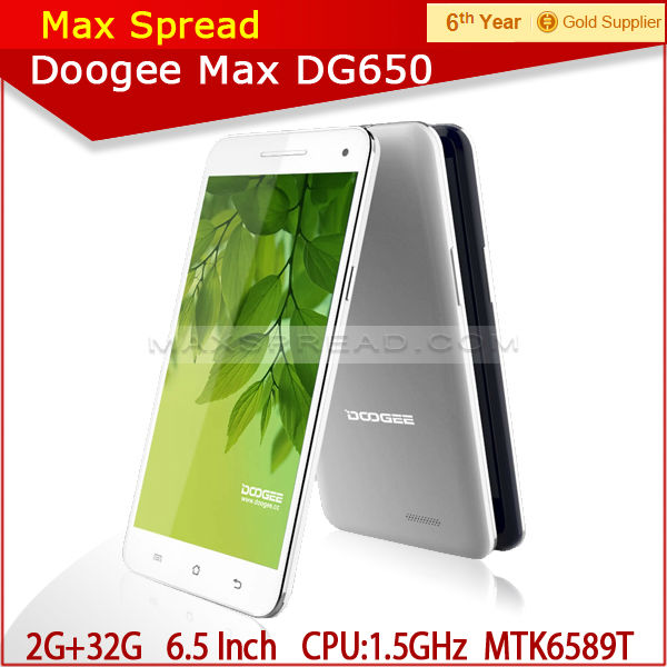 2014 New !! DG650 Doogee Cell Phone 6.5inch QHD IPS 1920*1080 2GB+32GB 16MP new smallest cell phone