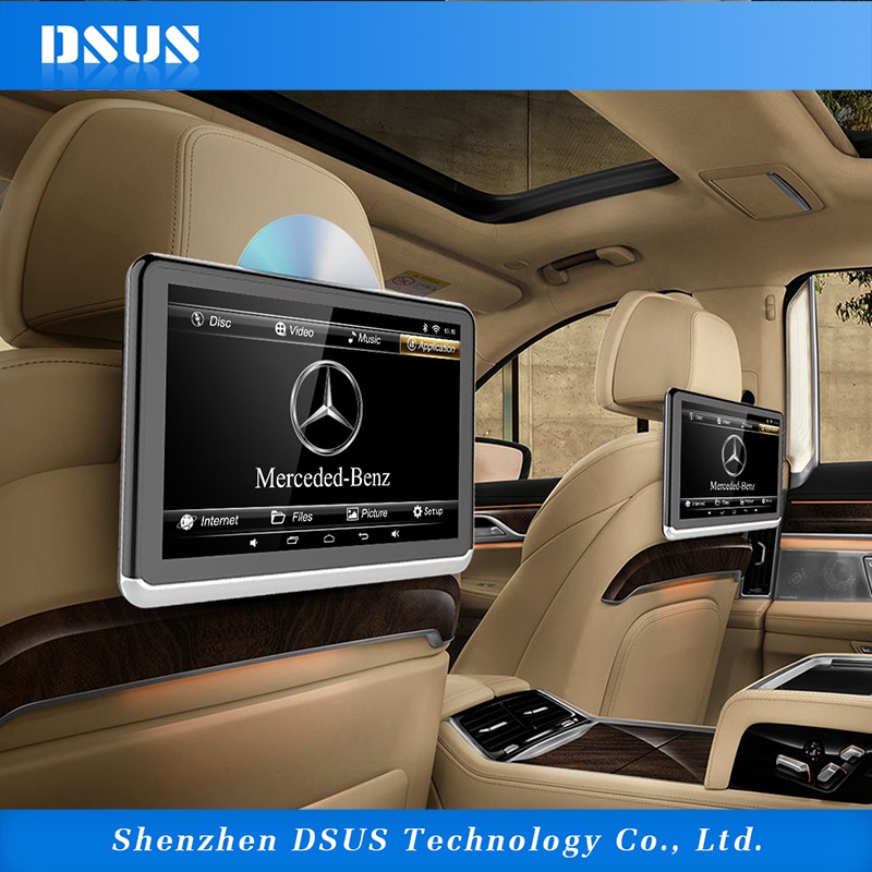 Android DSUS 10.1 inch multimedia car entertainment system support DVD/built-in battery/miracast and airplay