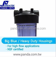 Taiwan 10 Inch plastic big blue Filter Cartridge housing for Water Treatment Plants