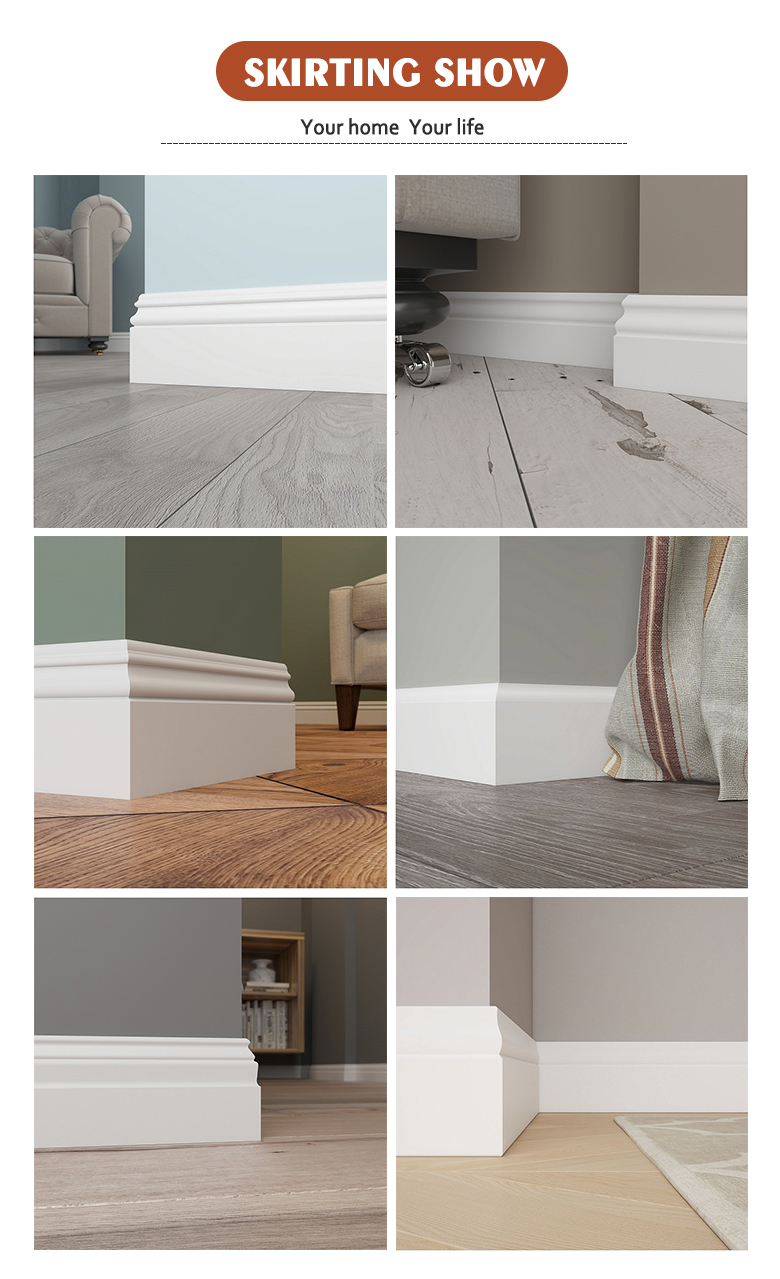 Custom Design Waterproof Plastic PVC Skirting Board