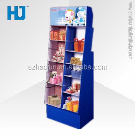 Point of sale corrugated cardboard stand carton display for toys/books/cd in outlet stores & supermarket