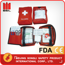 China Hot Selling low price top quality SLP-LF03 travel car family first aid packet kit