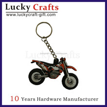 Production Experiences Motorcycle Styling Soft PVC Keychain With Metal Ring