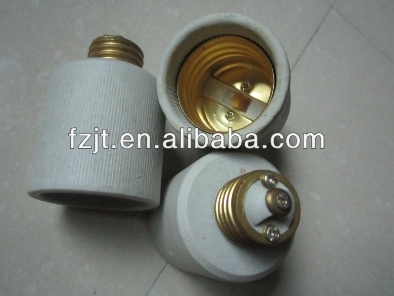 E27 E40 porcelain screw lamp socket, brass lampholder