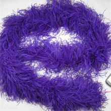 Wholesale cheap 6ply Fluffy Ostrich Feather Boas Purple Feather Boa for trimming
