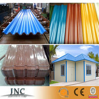 China factory corrugated prepainted galvanized roofing sheet / color printing iron tiles