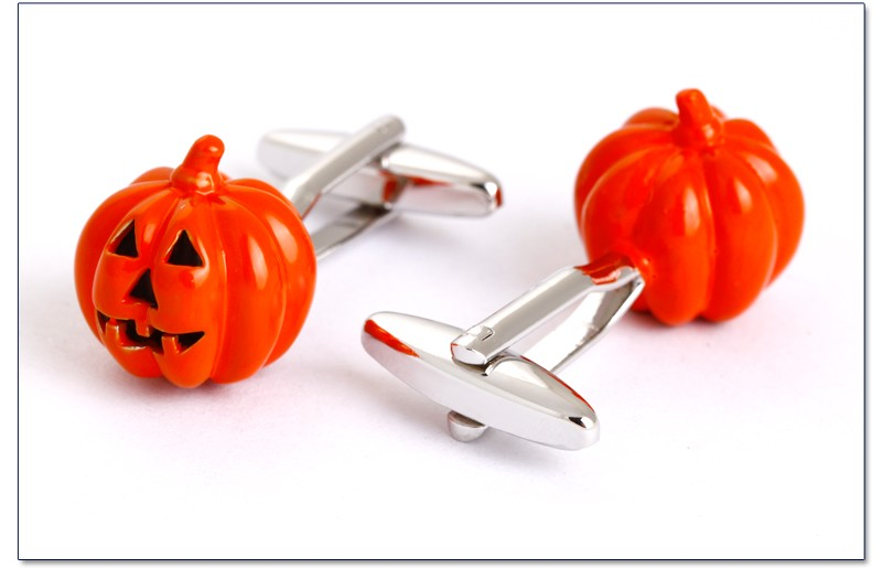 The Halloween pumpkin cufflinks for gift, metal replica cufflinks for men