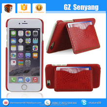 2016 Hot Wholesale PU Leather Stents Cell Phone Case for iphone 6s