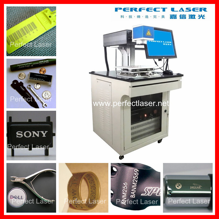 Perfect Laser Aluminum SS Plastic button printing machine