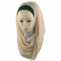 Popular Women Fashion Muslim Georgette Scarf Hijab Oversized Solid Color Shawl Scarves Wrap QK050