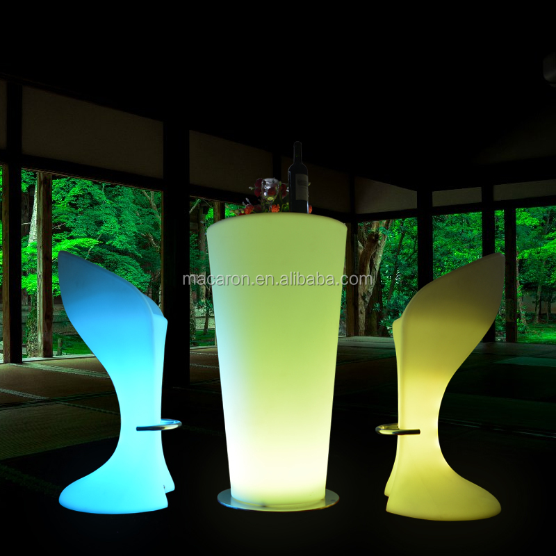 Commercial Portable Led High Top Cocktail Wedding Bar Table